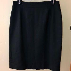 Dark green wool pencil skirt